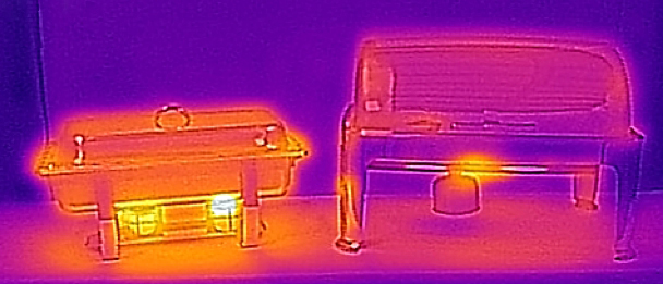 Infrared image of Trad Chafer vs Castle Chafer