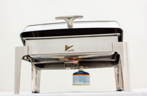 Efficient, safe chafing dish for the food service industry